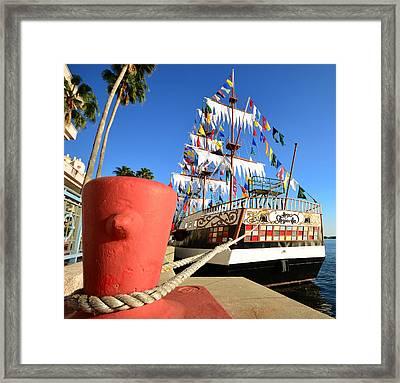 Pirates In Harbor Framed Print