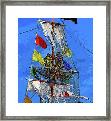 Pirates In The Nest Framed Print by David Lee Thompson