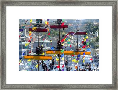Pirate's In The Rigging Framed Print by David Lee Thompson