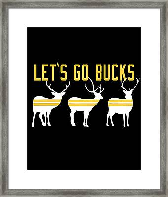 Pirates - Pittsburgh - Let's Go Bucks Framed Print by Colleen VT