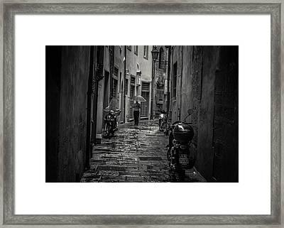Pisa Back Alley Framed Print by Chris Fletcher