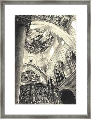 Pisa Duomo Framed Print by Norman Bean