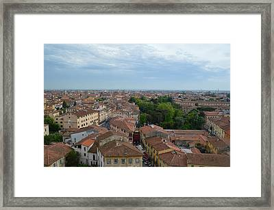 Pisa From Above Framed Print