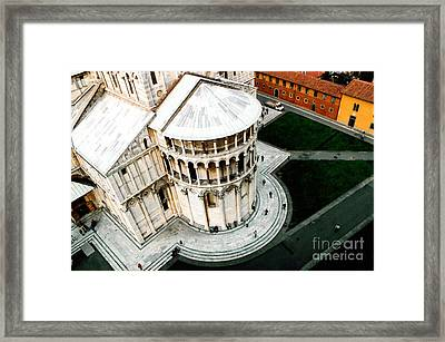 Pisa From Above Framed Print by Linda  Parker