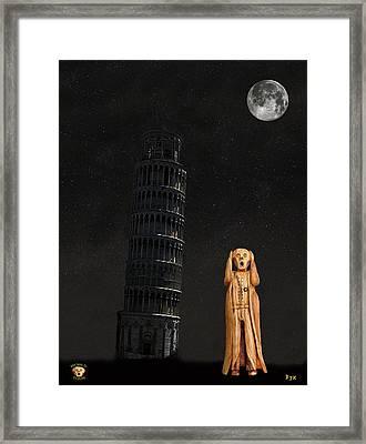 Pisa The Scream World Tour  Framed Print by Eric Kempson