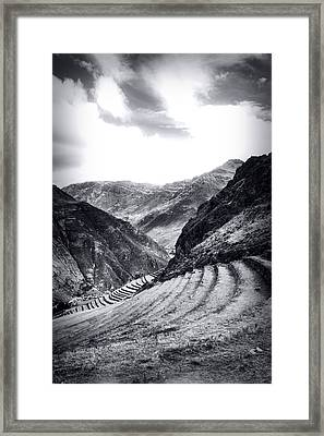 Pisac Fields Framed Print