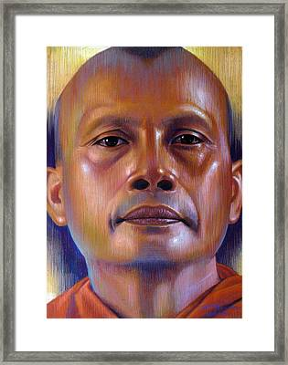 Framed Print featuring the painting Pisal Dhama Phatee by Chonkhet Phanwichien