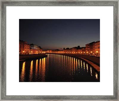 Pisa's Arno Framed Print