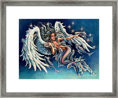 Pisces Angel Framed Print by Christine Karron