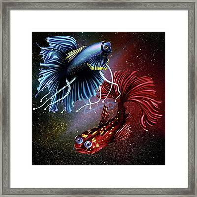 Pisces Dance Framed Print by Kenal Louis
