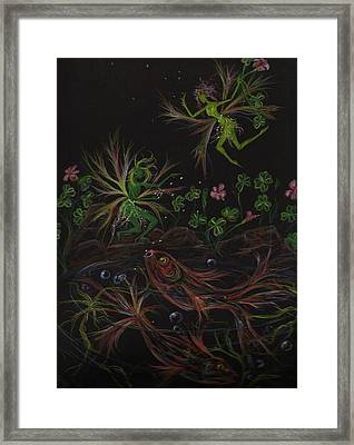 Framed Print featuring the drawing Pisces by Dawn Fairies