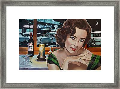 Pisces - Elizabeth Taylor Framed Print by Jo King