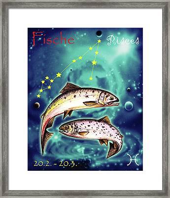 Pisces In The Sky Framed Print