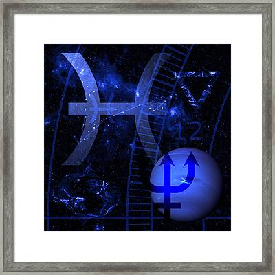 Pisces Framed Print by JP Rhea