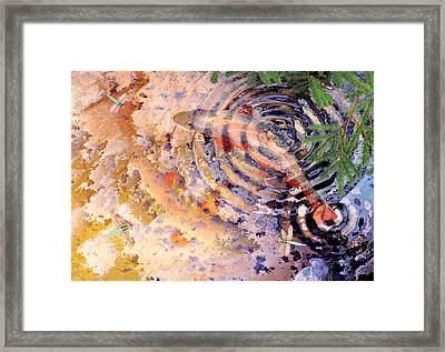 Framed Print featuring the painting Pisces by Peter J Sucy