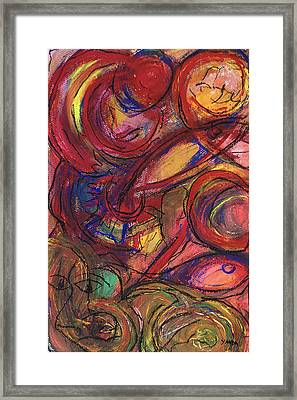 Pisces Symbalic Framed Print