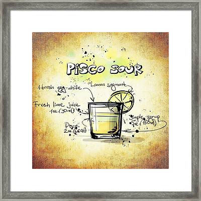 Pisco Sour Framed Print by Movie Poster Prints