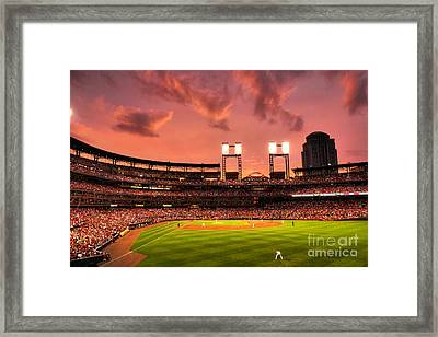 Piscotty In Left Field Framed Print
