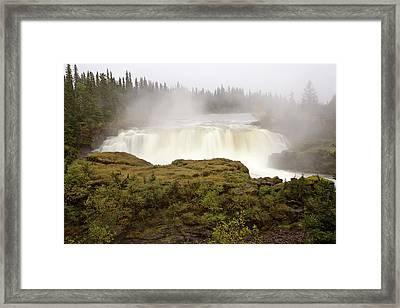 Pisew Falls Northern Manitoba Canada Framed Print