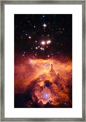 Pismis 24 And Ngc 6357 Framed Print by Marco Oliveira