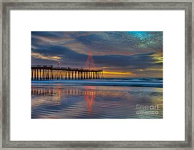 Pismo Beach Christmas Framed Print