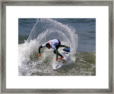 Pismo Beach Surfing Contest 25 Framed Print