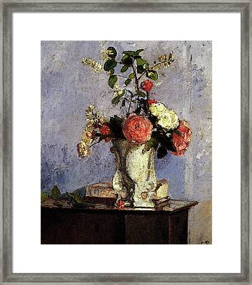 Pissarro Camille Bouquet Of Flowers Framed Print by Camille Pissarro