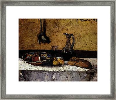 Pissarro Camille Still Life Framed Print by Camille Pissarro