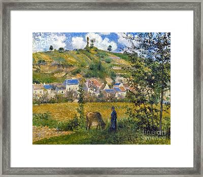 Pissarro: Chaponval, 1880 Framed Print by Granger