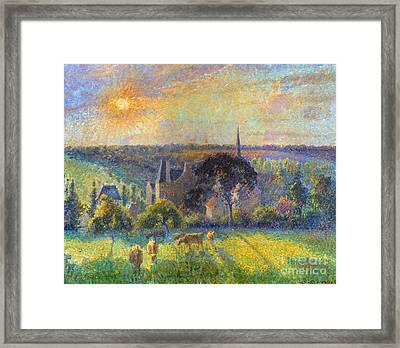 Pissarro: Eragny, 1895 Framed Print by Granger