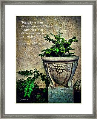 Pissarro Inspirational Quote Framed Print by Joan  Minchak