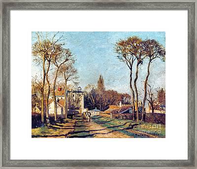 Pissarro: Voisins, 1872 Framed Print by Granger