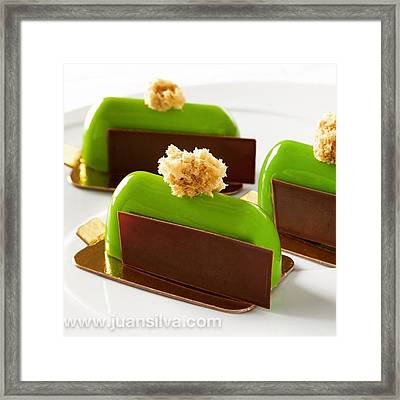 Pistacho Petit Gateaux, Made  By The Framed Print