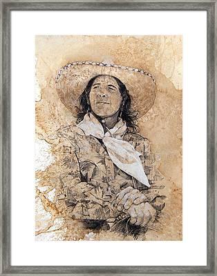 Pistol Packin' Cowgirl Framed Print