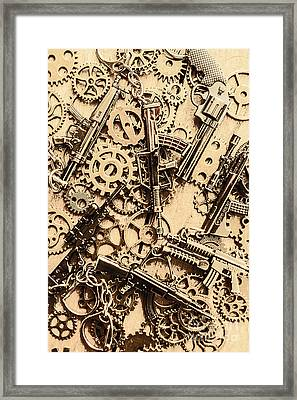 Pistol Parts And Rifle Pinions Framed Print by Jorgo Photography - Wall Art Gallery