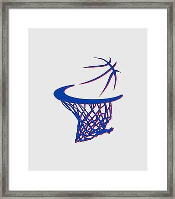 Pistons Basketball Hoop Framed Print