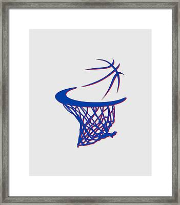 Pistons Basketball Hoop Framed Print by Joe Hamilton