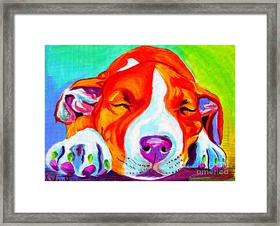 Pit Bull - Naptime Framed Print by Alicia VanNoy Call