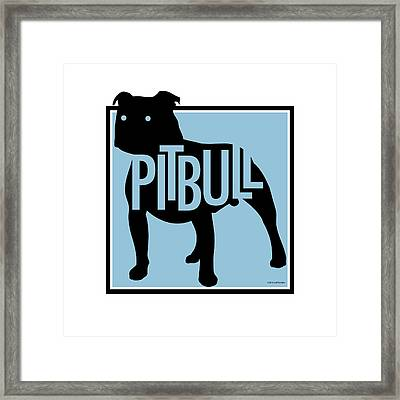 Pit Bull Blue Framed Print by Geoff Strehlow