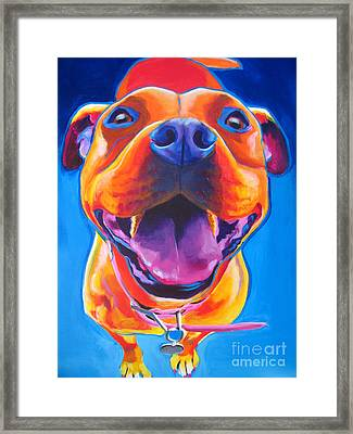 Pit Bull - Lots To Love Framed Print by Alicia VanNoy Call