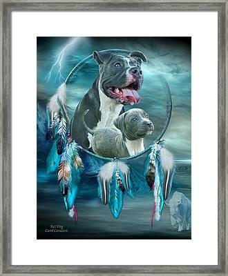 Pit Bulls - Rez Dog Framed Print