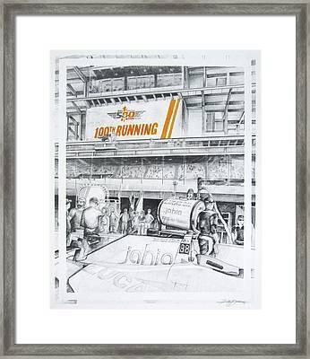 Pit Road Framed Print