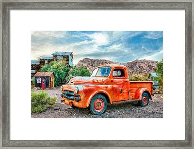Pit Stop Framed Print by Aron Kearney