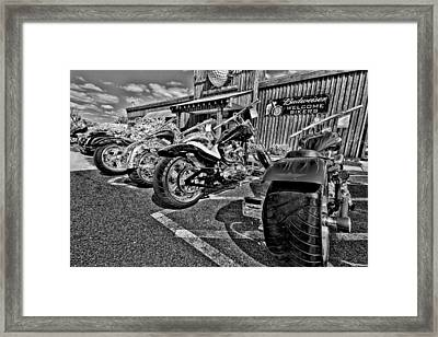 Pit Stop Framed Print by Ches Black