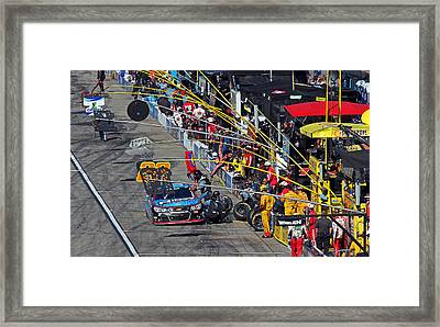 Pit Stop Framed Print by Juergen Roth