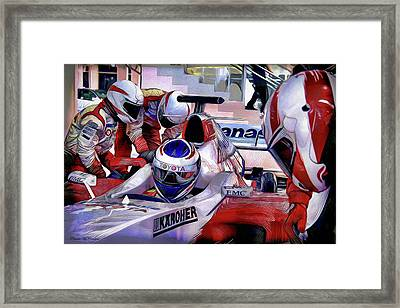 Pit Stop Framed Print by Pennie  McCracken
