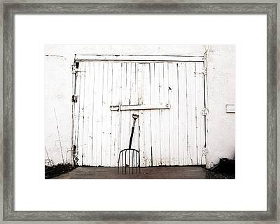 Pitch Fork Framed Print by Marilyn Hunt