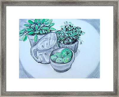 Pitcher And Plants Framed Print