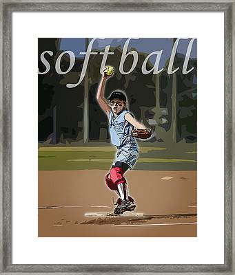 Pitcher Framed Print by Kelley King