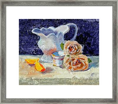 Pitcher Picture Framed Print by Laurie Paci